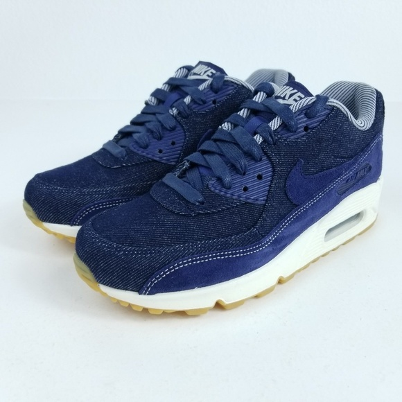 hot sales b94b7 bf996 NIKE Air Max 90 SE Womens Shoes Denim Blue NWT